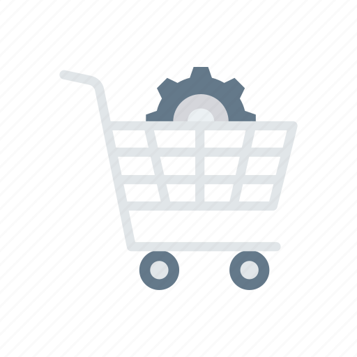 cart, configuration, setting, shopping, trolley icon