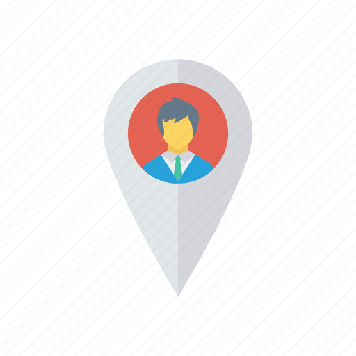 gps, location, map, pin, user icon