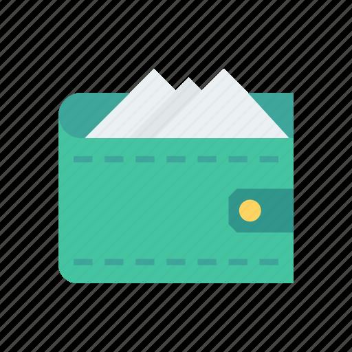 cash, money, purse, saving, wallet icon