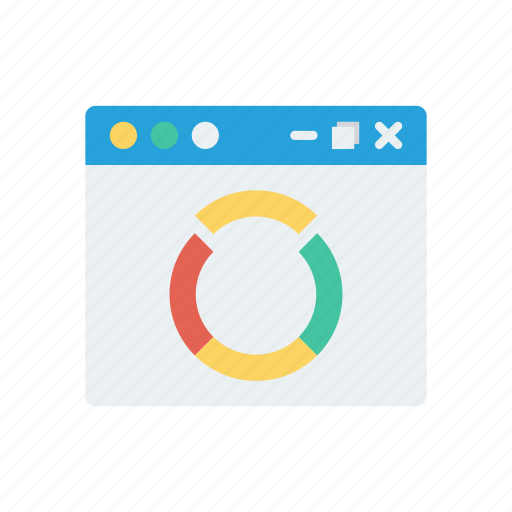 browser, chart, graph, internet, webpage icon