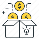 crowdfund, crowdfunding, peer lending icon
