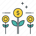 grow money, growing, money growth, money tree icon