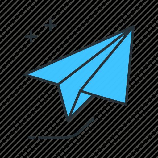 delivery, message, paper plane, send, sent icon