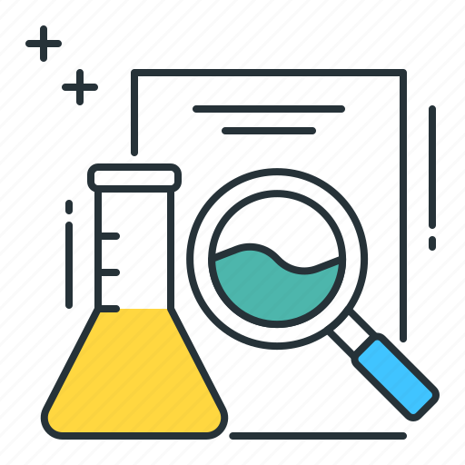 analysis, file, flask, lab, research icon