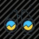 binoculars, find, goals, sarch, short, term icon