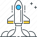 fly, launch, rocket, startup icon