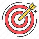 arrow, darts, goal, target icon