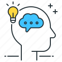 thinking, head, brain, mind, ideas