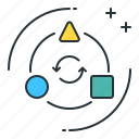arrow, cycle, direction, shapes, transform icon
