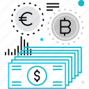 cash, crypto, currency, exchange, expenses, finance, money icon