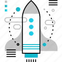 business, launch, new, rocket, spacecraft, spaceship, startup icon