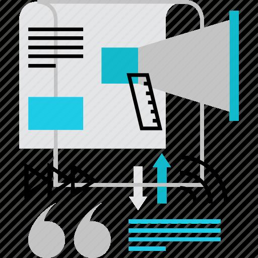 blog, marketing, media, news, press, promotion, release icon