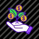 budgeting, business, development, funding, money, profit, revenue icon