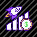 business, chart, diagram, growth, profit, scheme, startup icon