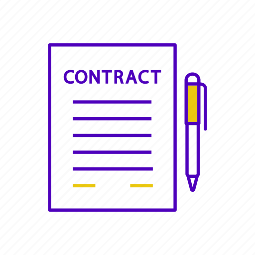 agreement, business, contract, deal, document, paper, sign icon