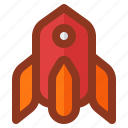 business, interface, rocket, start, startup icon