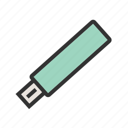 disk, drive, flash, memory, save, stick, usb icon