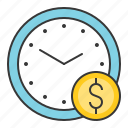 chance, clock, fund, money, startup, แ้ฟืแำ icon
