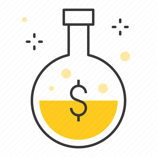 analyze, chemical, fund, marketing, research, startup icon