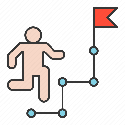 goal, route, startup, strategy icon