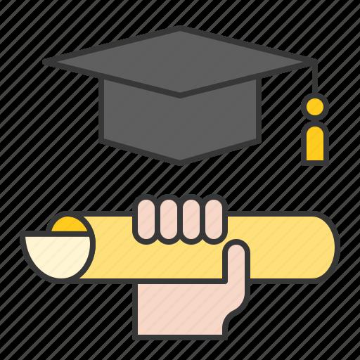 education, graduation, learning, startup icon