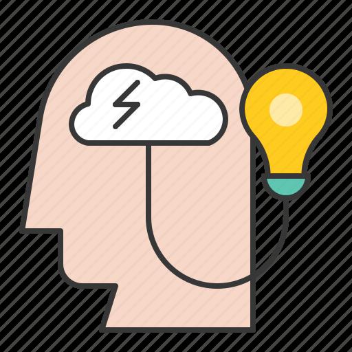 creativity, idea, startup, thinking icon