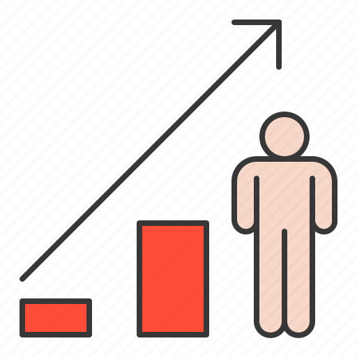 graph up, improve, increase, startup icon