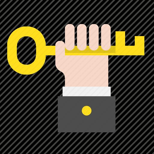 hand, key, startup, success icon