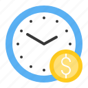 chance, clock, money, startup, time icon