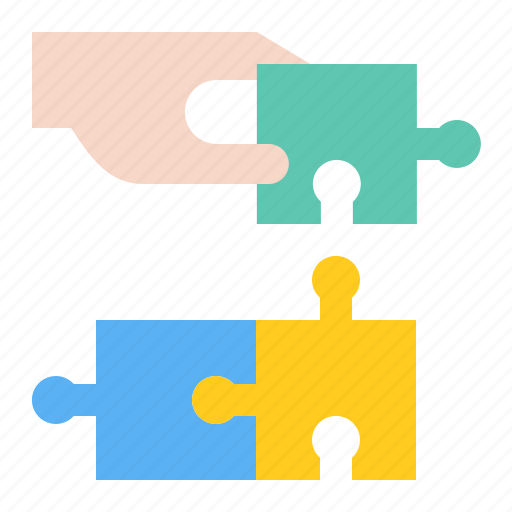 hand, jigsaw, puzzle, startup, strategy icon