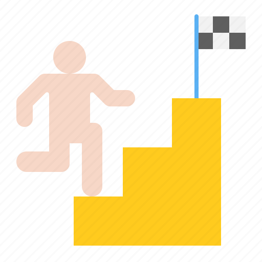 competition, goal, stair, startup icon