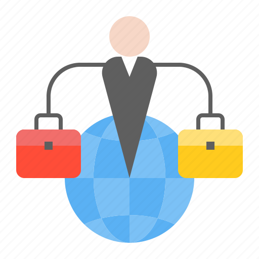 business, globe, network, online, startup icon