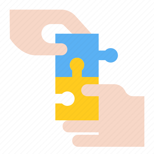 collaboration, hand, jigsaw, puzzle, startup icon