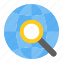 magnifier, globe, startup, search, find