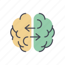 brain, brainstorm, creative, idea, startup, strategy, teamwork icon