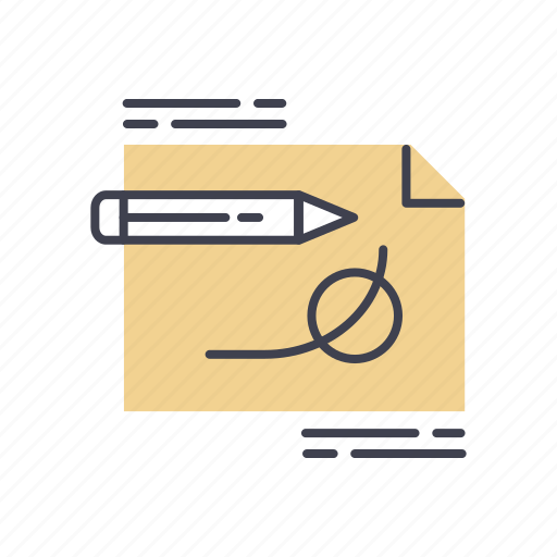 business, creative, design, designing, drawing, layout, writing icon