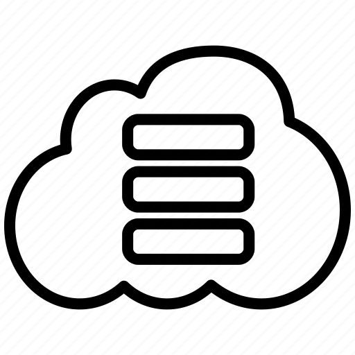 cloud, cloud hosting, data, database, storage icon