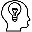 bulb, electric, electricity, idea, lamp, light, talent icon