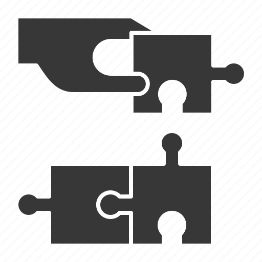business, hand, jigsaw, puzzle, strategy icon