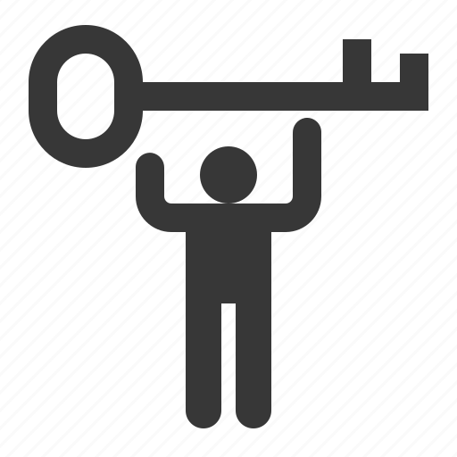 business, key, keyman, success icon