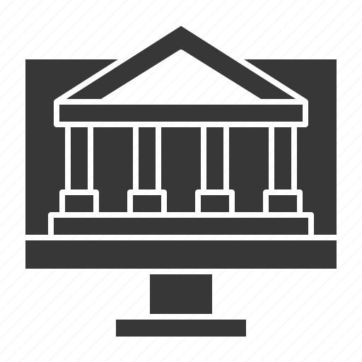 bank, banking, business, finance, online banking icon
