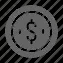 coin, dollar, penny icon