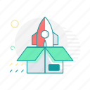 box, code, launcher, package, startup icon