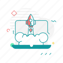 code, device, laptop, launcher, startup icon