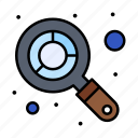 analysis, budget, search icon