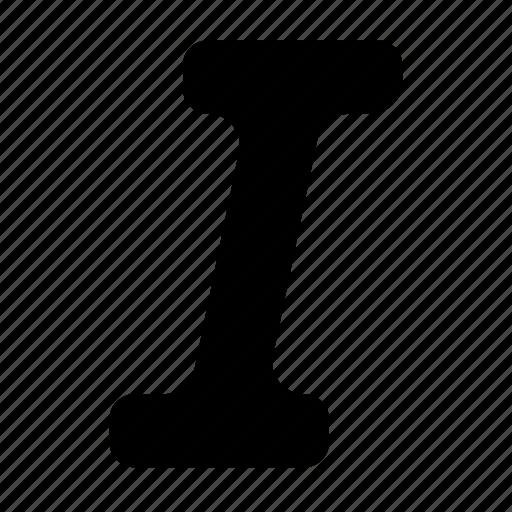 font, i, italic, text, typeface icon