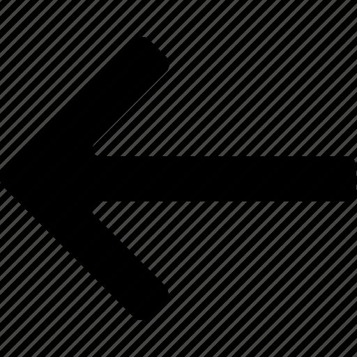arrow, back, backward, left, reverse icon