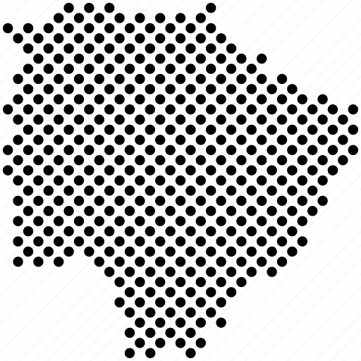 dots, federation unit, map, mato grosso do sul, ms, states of brazil icon