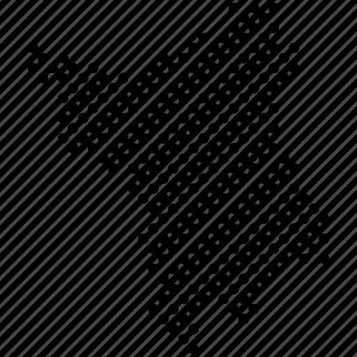dots, federation unit, map, roraima, rr, states of brazil icon