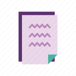 data, files, notes, office, pages, paper, stationery icon